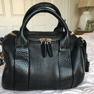 ALEXANDER WANG ROCKIE IN SOFT BLACK WITH PALE GOLD